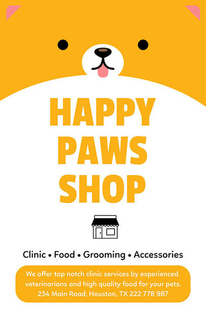 Flyer Maker for Pet Shops 398