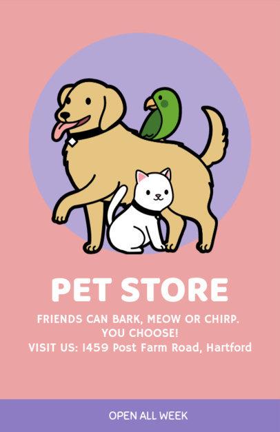 Online Flyer Maker for Pet Stores 396c