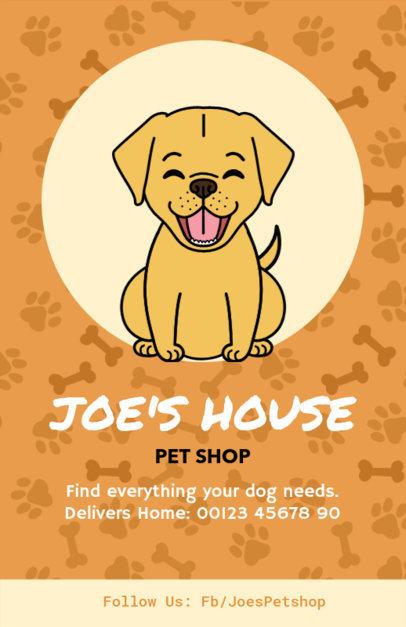 Online Flyer Maker for Pet Shops with Dog Illustration 396d