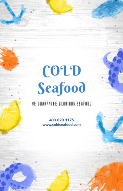 Flyer Maker for Seafood Restaurants with Anchor Graphics 392 a