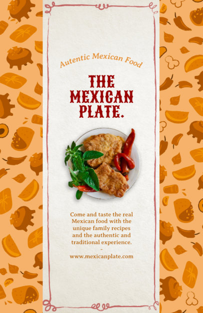 Mexican Restaurant Online Flyer Maker 377b