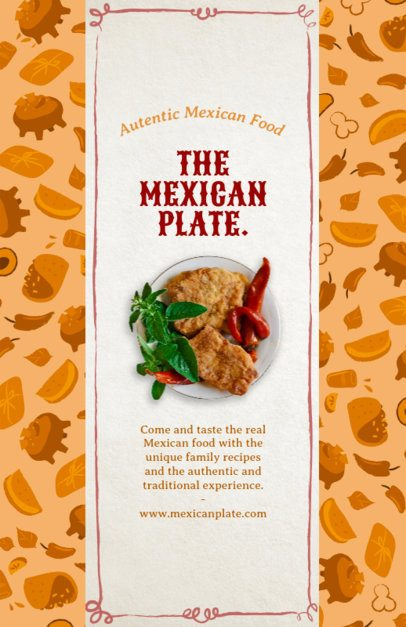 Mexican Restaurant Online Flyer Maker 377b