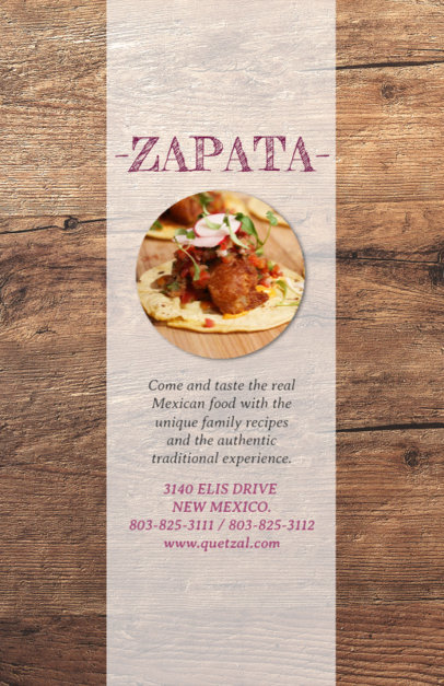 Online Flyer Maker for Traditional Mexican Restaurants 377e
