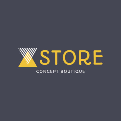 Custom Logo Maker with Geometric Images for Concept Stores 1290b