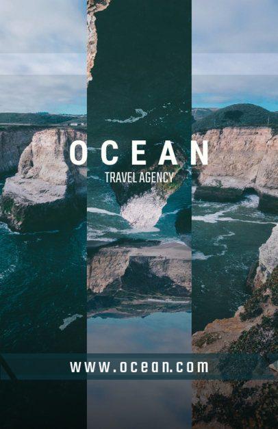Travel Flyer Maker with Ocean Design 309d