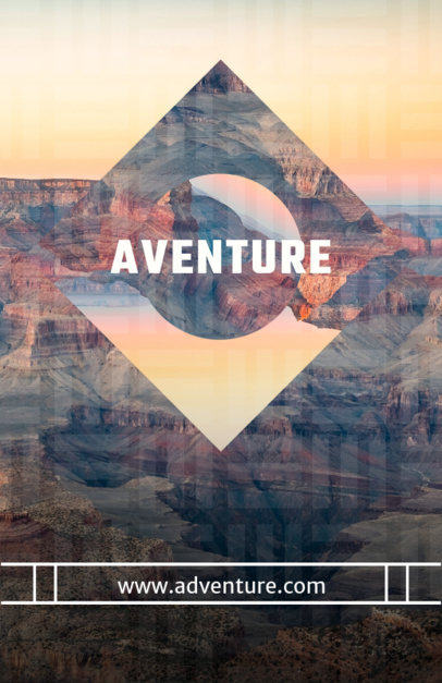 Online Flyer Maker for Adventure Travel 309e