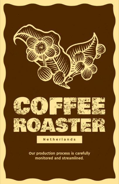 Online Flyer Maker for Coffee Roasters 390d