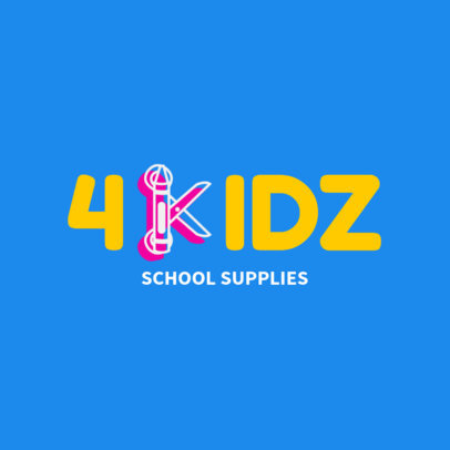 Custom Logo Maker for School Supply Stores 1275e