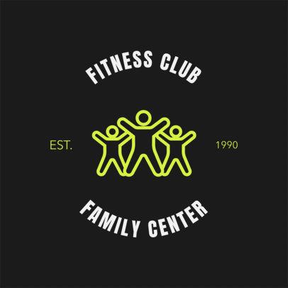 Gym Logo Maker with Line Art 1273