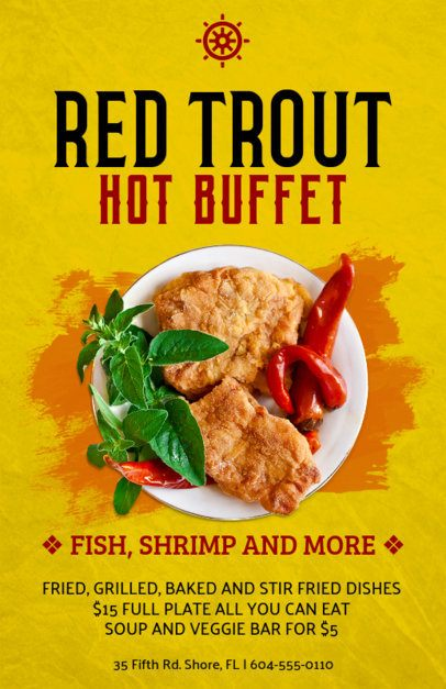 Online Flyer Maker for Seafood Buffets 381c