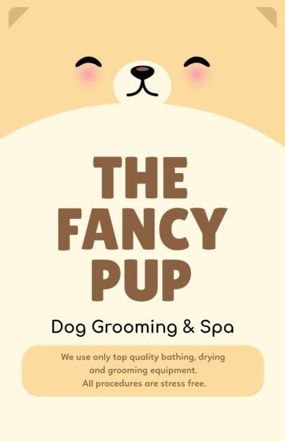 Online Flyer Maker for Pet Grooming 398b