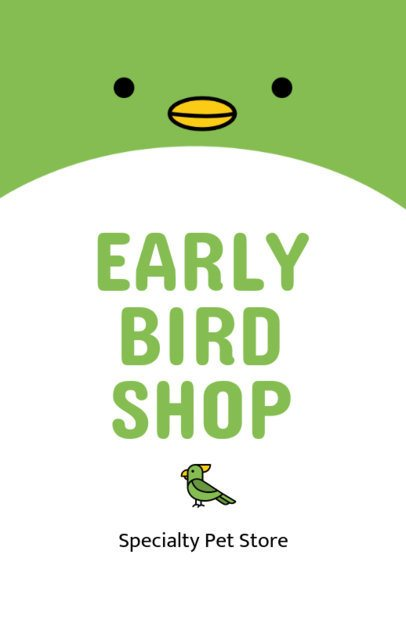 Bird Shop Online Flyer Maker 398c