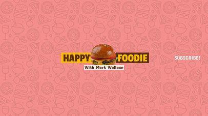 YouTube Banner Maker for Food Channels 399
