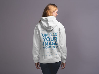 Back Shot Hoodie Mockup of a Woman 20909