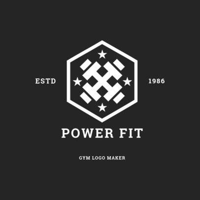 Gym Logo Maker with Badge Design 1272d