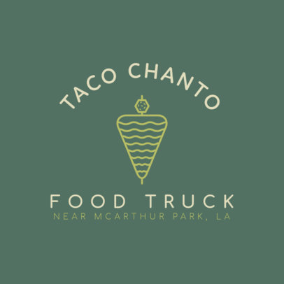 Food Truck Logo Maker for Taco Trucks 1213a