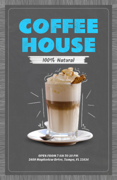Online Flyer Maker for Coffee Shops with Coffee Image 404d