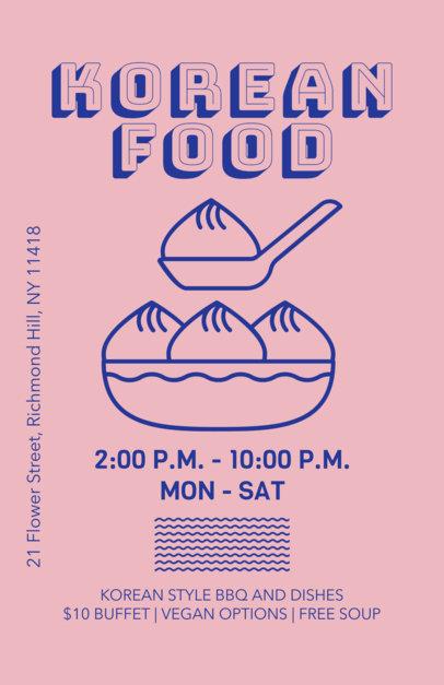 Restaurant Flyer Maker for Korean Restaurants 400