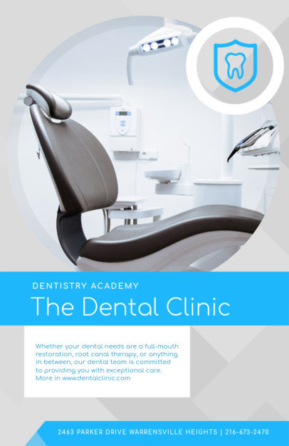 Dental Clinic Online Flyer Maker 412a