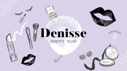 Online Banner Maker with Makeup Illustrations 389b