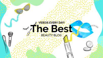 Online Banner Maker for Beauty Vlogs 389c