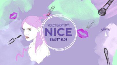 Online Banner Maker for YouTube Channels with Girl Illustration 389d