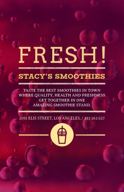 Online Flyer Maker for Smoothie Shops 410b