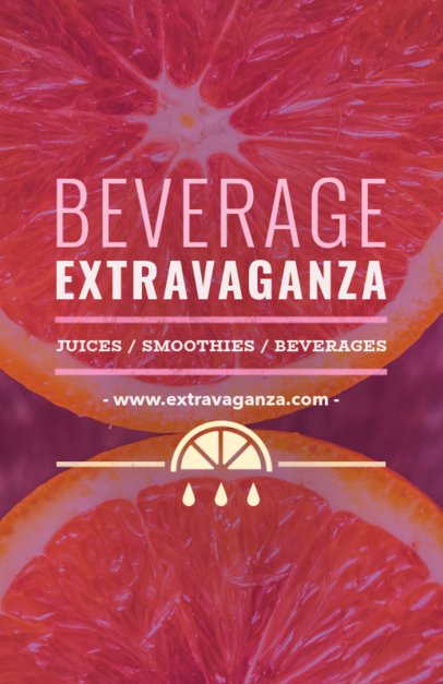 Online Flyer Maker for a Smoothie Business 410d
