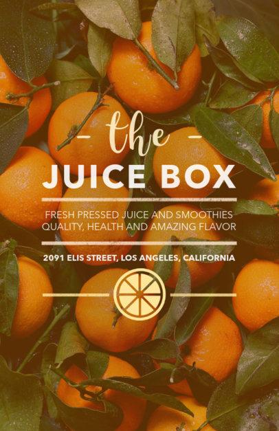 Online Flyer Maker for a Healthy Juice Bar 410e
