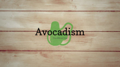YouTube Banner Maker for Vegan Vloggers with Avocado Icon 344b