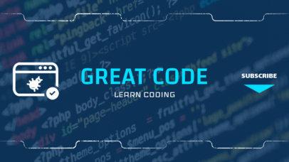YouTube Banner Maker for Coding Tutorials 391b
