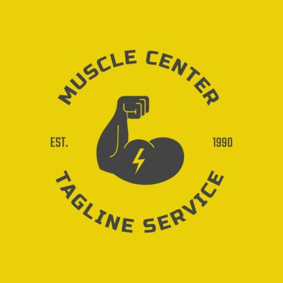 Custom Logo Maker for Gyms with Biceps Clipart 1273b