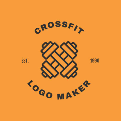 Logo Maker for Gyms with Simple Design 1273d