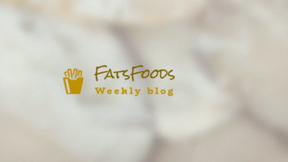 YouTube Banner Maker for Foodies 403d