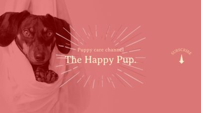 Youtube Banner Maker with Cute Puppies 411c