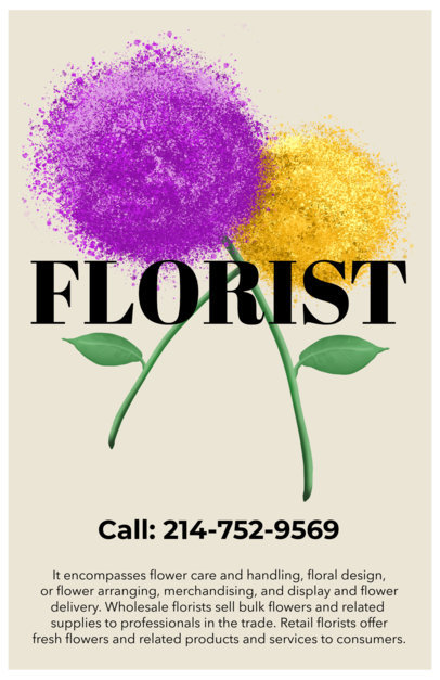 Online Flyer Maker for Floral Shops 435
