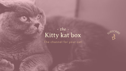 Youtube Banner Maker with Kitten Picture 411e