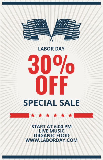 Labor Day Sale Flyer Template 429