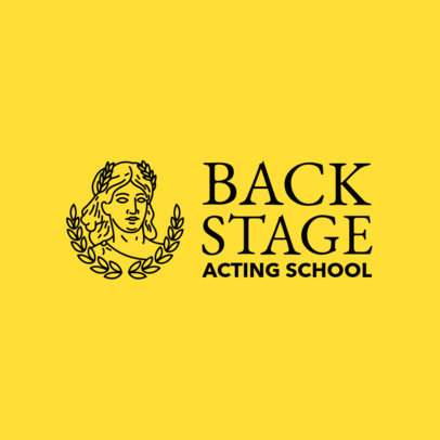 Online Logo Maker for Acting Schools with Theatre Icons 1301d