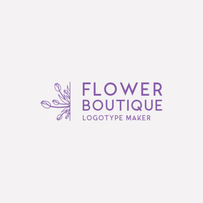 Online Logo Maker for a Flower Boutique 1271b