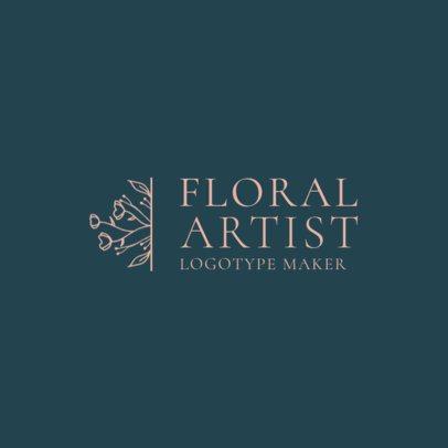 Florist Logo Maker with Flower Illustration 1271c