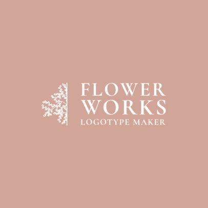 Flower Shop Logo Maker with Flower Clipart 1271f