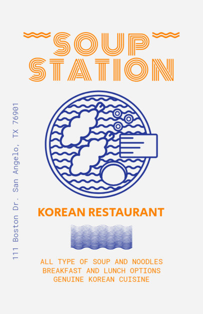 Flyer Template for a Ramen Restaurant 400d
