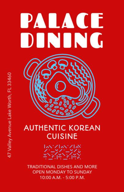 Online Flyer Maker for a Korean Ramen Restaurant 400e
