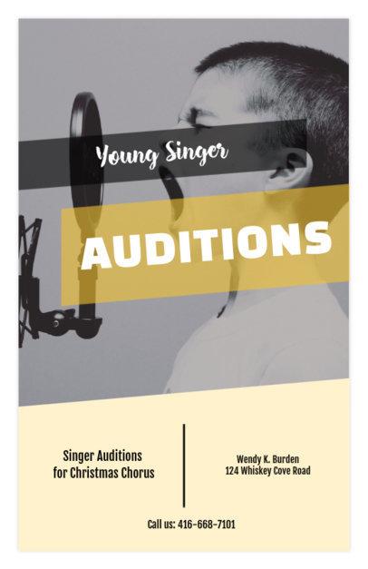 flyer maker for singing auditions