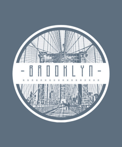 Brooklyn T-Shirt Design Template 266d