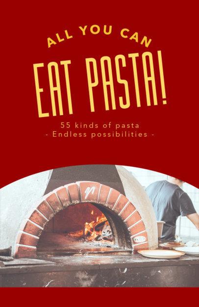 Online Flyer Maker for Pasta Restaurants 414e