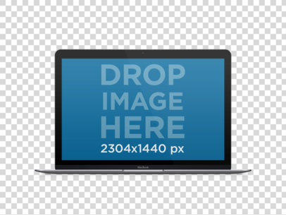 Laptop Mockup of a Macbook Air Over Transparent Background