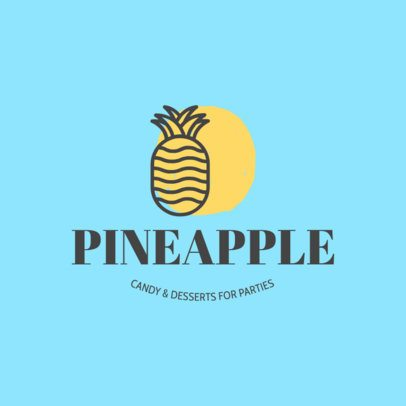 Custom Logo Maker for Candy Stores with Pineapple Graphic 1259a