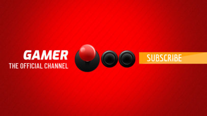 YouTube Banner Maker for Gaming Channels with Joystick Graphic 407a